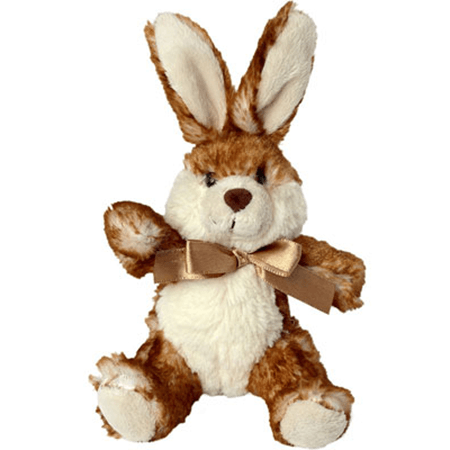 Peluche lapin marron assis 14 cm
