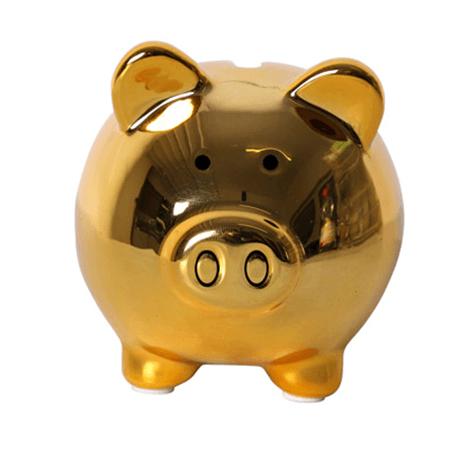 Tirelire cochon dor publicitaire personnalis - Tirelire dessin ...