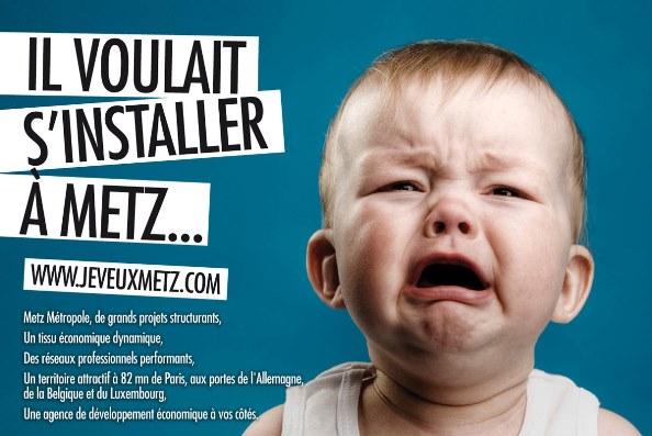 Publicité pour la ville de Metz