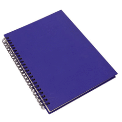 Bloc notes/bureau > papeterie > carnet bleu en car