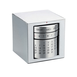 Calendrier perpetuel lux box - 80x90 mm