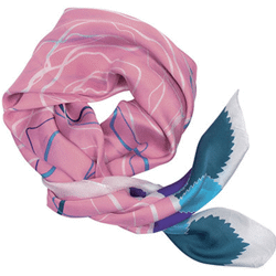 Foulard rose de galimard