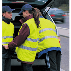 Gilet safety publicitaire
