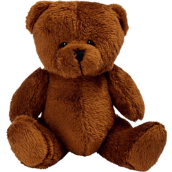 Peluche brun ours assis 9cm