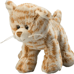 Peluche chat 15 cm marron