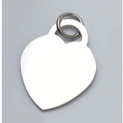 Pendentif charms coeur - 27x35 mm