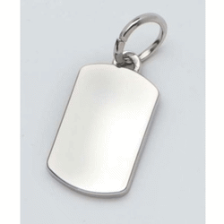 Pendentif charms rectangle - 14x30 mm