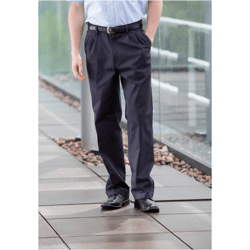 Pleat chino trousers pantalon à pinces avec traite