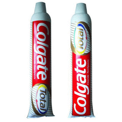 PLV gonflable dentifrice