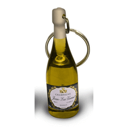 Porte cles bouteille champagne
