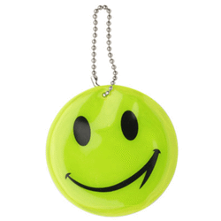 Porte clés reflechissant smiley