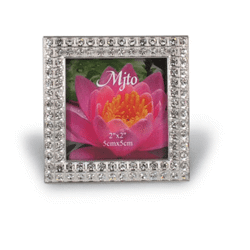 Porte-photos argent cristal - 50x50 mm