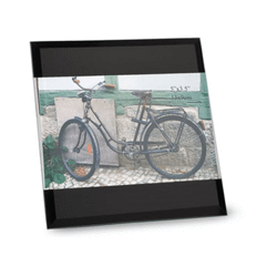 Porte-photos verre noir - 130x180 mm