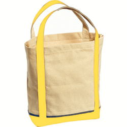 Sac shopping canvas jaune