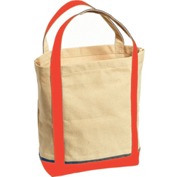 Sac shopping canvas rouge