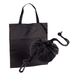 Sac shopping noir en polyester