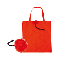 Sac shopping rouge en polyester