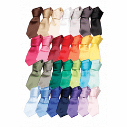 Satin tie cravate satin