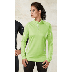 "T-shirt sport ""quick dry"" manches longues 1/4 zip"